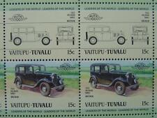 1932 HILLMAN MINX Car 50-Stamp Sheet / Auto 100 Leaders of the World