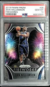 Zion-Williamson-Rookie-2019-20-Panini-Prizm-Fireworks-PSA-10-Gem-Mint-QTY