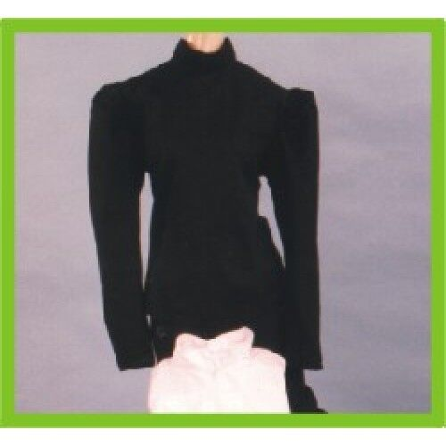 ADULT WOMENS LADIES 19TH VICTORIAN GIBSON GIRL BLACK WHITE COSTUME BLOUSE SHIRT