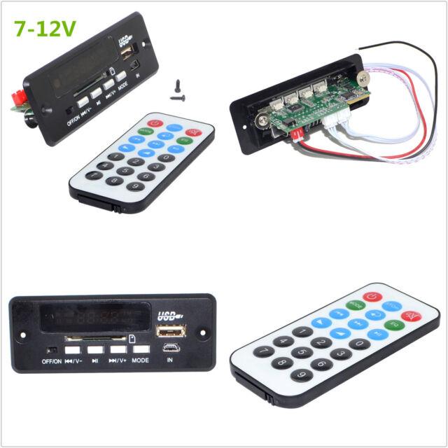 Universal 7~12V Car Handsfree Bluetooth MP3 Decoder Board w//Bluetooth Module+FM