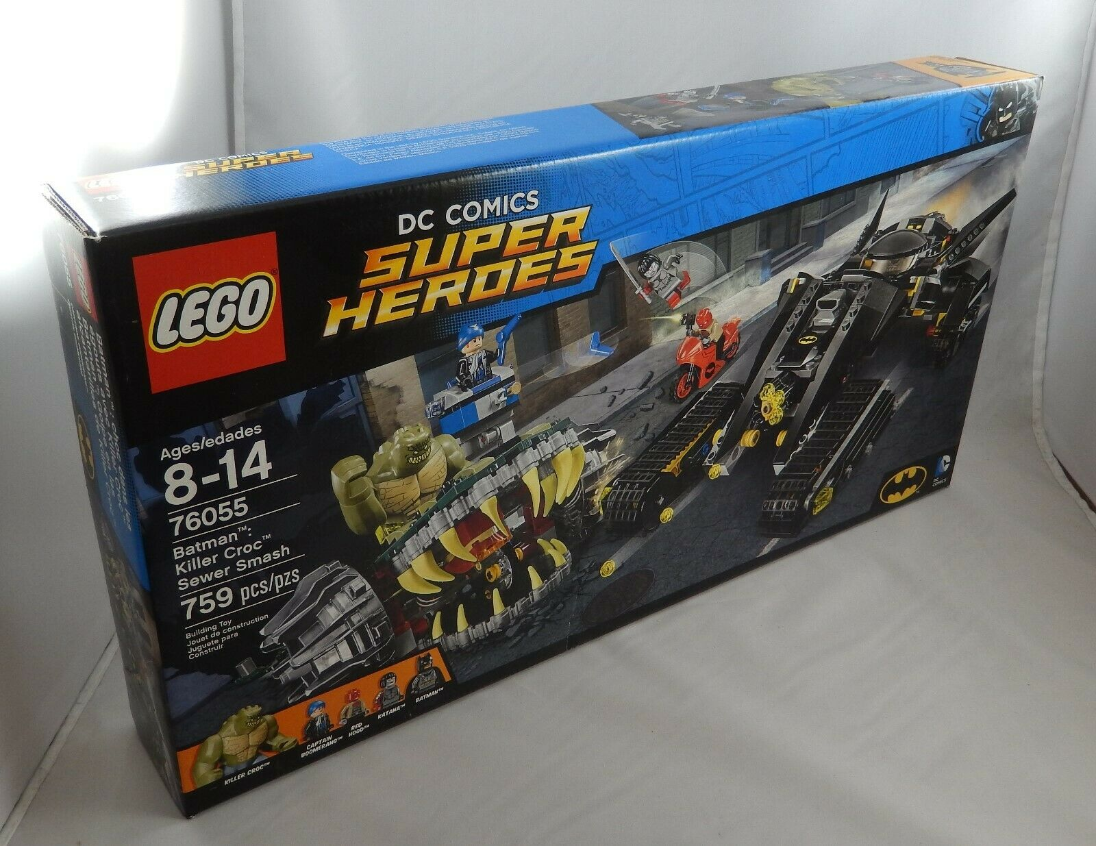 LEGO DC Comics Super Heroes 76055 Batman Killer Croc Sewer Smash Set New Sealed