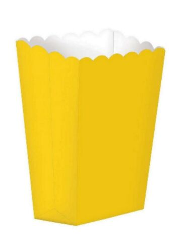 CINEMA SWEET TREAT FAVOUR LOOT PARTY GIFT BAGS YELLOW POP CORN BOXES