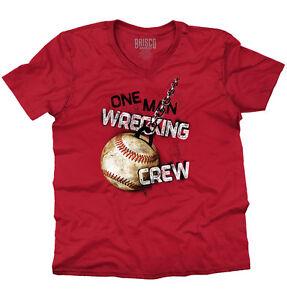 Wrecking Crew Funny Shirt | Sports Baseball Miley Cool Ralph V-Neck T Shirt