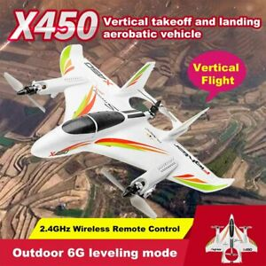 XK-X450-6-CH-Remote-Control-Vertical-Takeoff-Landing-3D-Aerobatic-RC-Airplane-US
