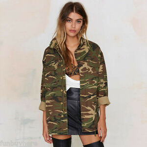 Women-Vintage-Military-Camo-Classic-Loose-Bomber-Jacket-Camouflage-Coat-Outwear