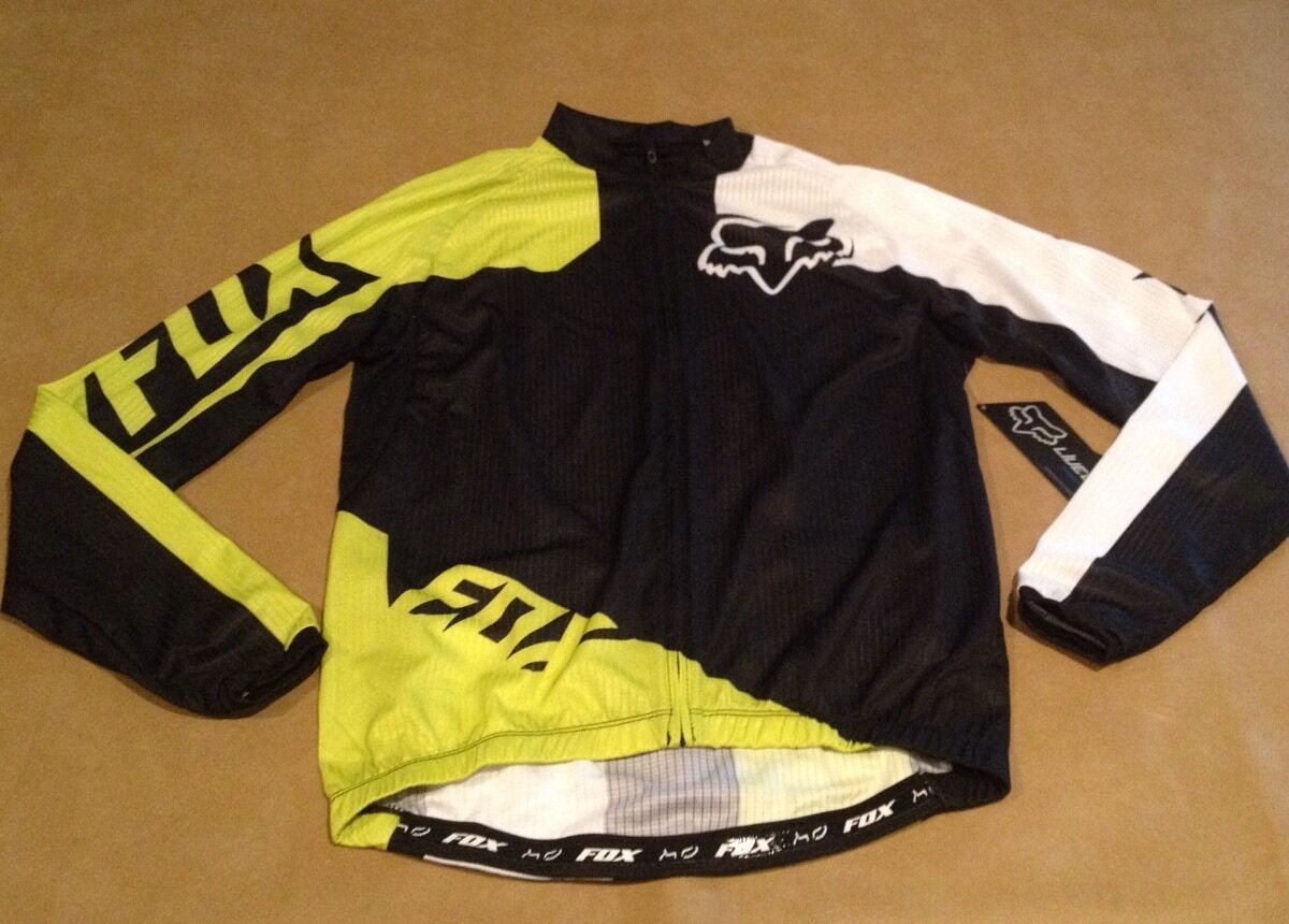 NWT Fox Bike Cogreen SS Jersey Acd  GRN Long Sleeve Zip Up Men Medium NEW  online shopping sports