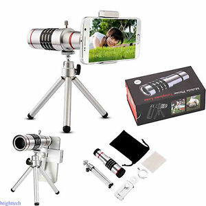 18X Zoom Phone Telescope Telephoto Camera Lens w/Tripod For IPhone Android Phone