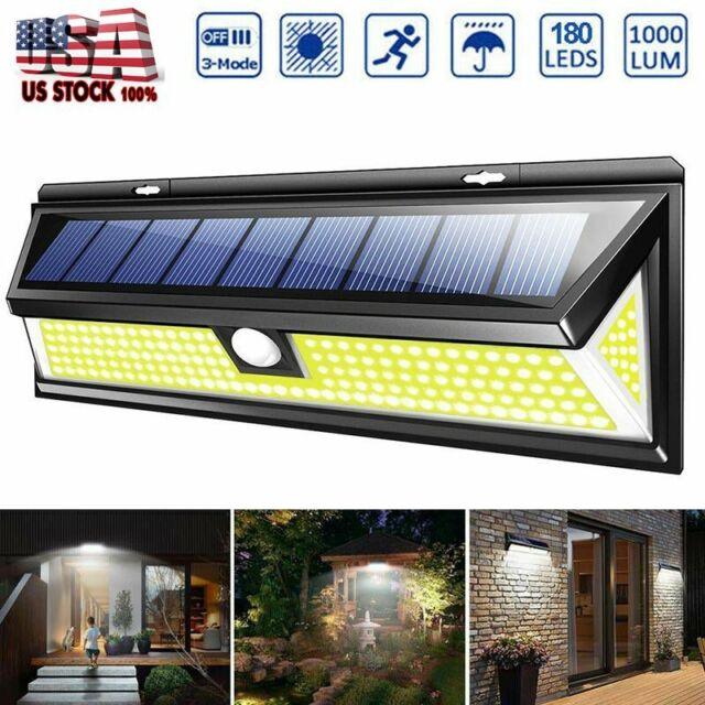 Solar Powered 4 LED PIR Motion Sensor Stainless Steel Wall Light for Outdoor Gar