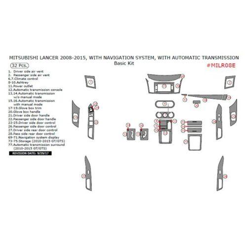 For Mitsubishi Lancer 08-15 Remin Real Carbon Fiber Basic Dash Kit 32 Pcs