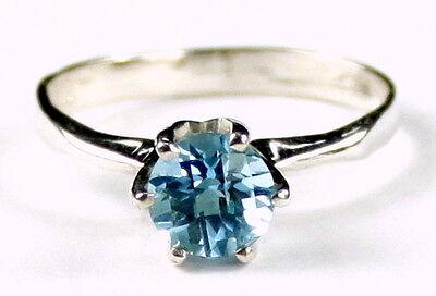 1 ct NEPTUNE GARDEN TOPAZ Sterling Silver Ladies Ring -Handmade • SR311