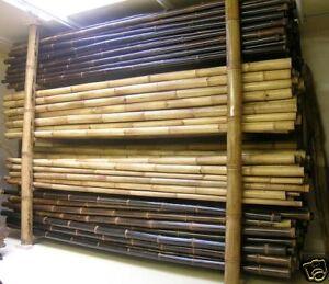 Bambusstangen-Bambusstange-Bambusrohre-Wulung-braunes-Bambusrohr-4Meter-D-5-7cm