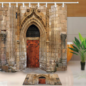 Image Is Loading Ancient Castle Door Shower Curtain Home Bathroom Polyester