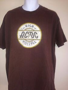 5bc0399eef25a VINTAGE AC DC HIGH VOLTAGE 2004 XL T-SHIRT ROCK METAL 2006 OUT OF ...