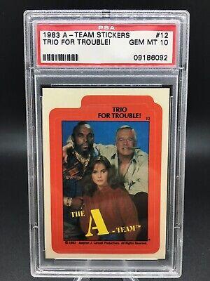 Topps 1983 The A-Team Sticker #9 The A-Team B.A.