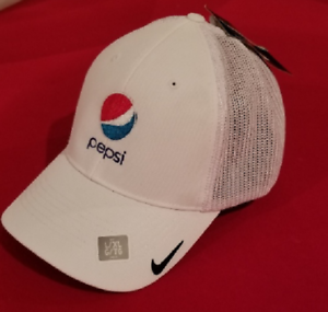 15ca02099020a Details about Nike Golf Pepsi Mesh Back Cap Embroidered Pepsi Logo - White  - (LG/XL) *NEW