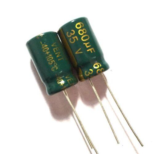 10PCS 35V 680uF 35Volt 680MFD Electrolytic Capacitor 10mm×16mm