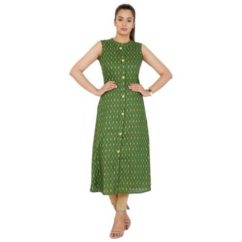 India Pakistani Kurta Kurti 100/% Cotton Straight Printed Casual Top Tunic