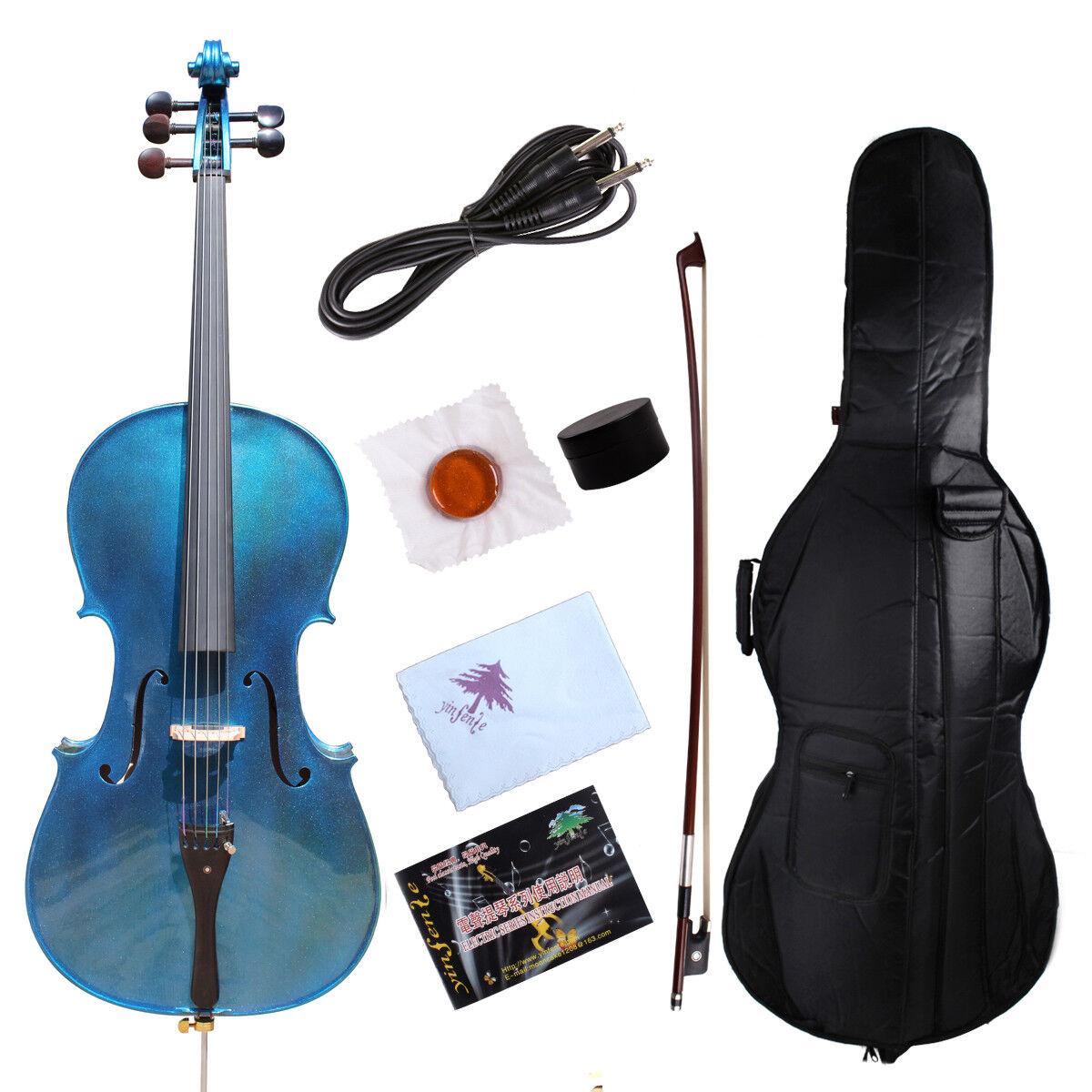 Yinfente 5 Cuerdas Violonchelo acústica eléctrica 4 4 Abeto Abeto Abeto + Bolsa arco libre de Arce hecho a mano c707d8