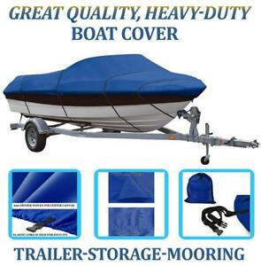 BLUE BOAT COVER FITS SMOKER CRAFT PRO ANGLER 17 THRU-2005
