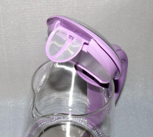 Scheffler ET1505 Glas Tee Wasserkocher 1,7L 360° LED Blue Schnurlos Lila Edelsta