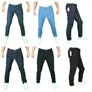 NEW-Mens-Super-Stretch-Denim-Jeans-Fashion-Casual-Slim-Fit-Straight-Fit