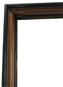 Antique-Victorian-Walnut-Wood-Fine-Art-Painting-Picture-Primitive-Country-Frame