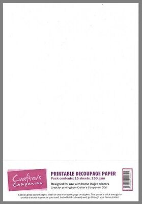 Crafters Companion Printable Decoupage Paper - 15 sheets
