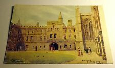 Color Postcard of New College in Oxford, UK 1945 Postmark
