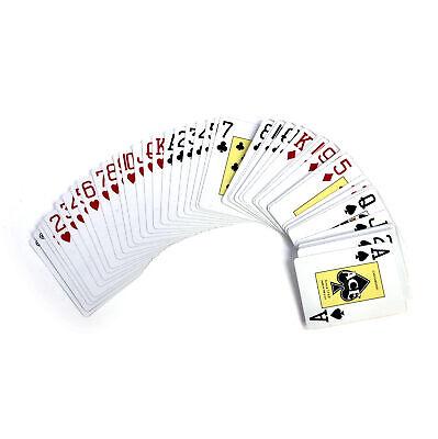 Ace Gigante Indice / Face Poker Carte Da Gioco - Tradizionale Taglia Grande 3.5