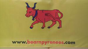 DRAPEAU BEARN CARAVANE  PUBLICITAIRE  GOODIES TOUR DE FRANCE