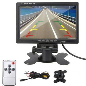 7-034-TFT-LCD-Color-Monitor-Car-Rear-View-Headrest-DVD-VCR-Monitor-2-Video-Input-US