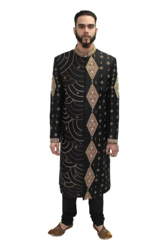 New Mens Indian Black Churidar Trousers Sherwani Kurta Pyjami All Sizes UK