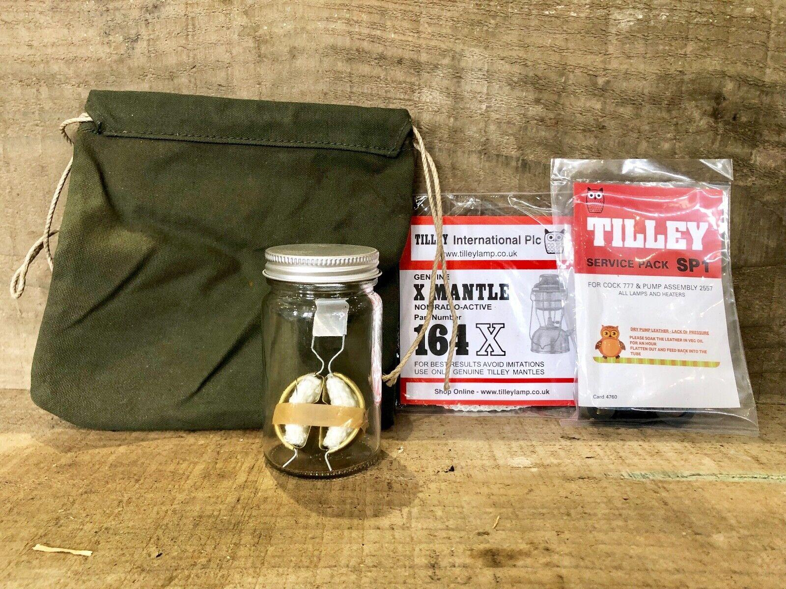 Originale Tilley Servizio Kit con Ex Militare Borsa 158 Jar 151 Torcia SP1 Sk