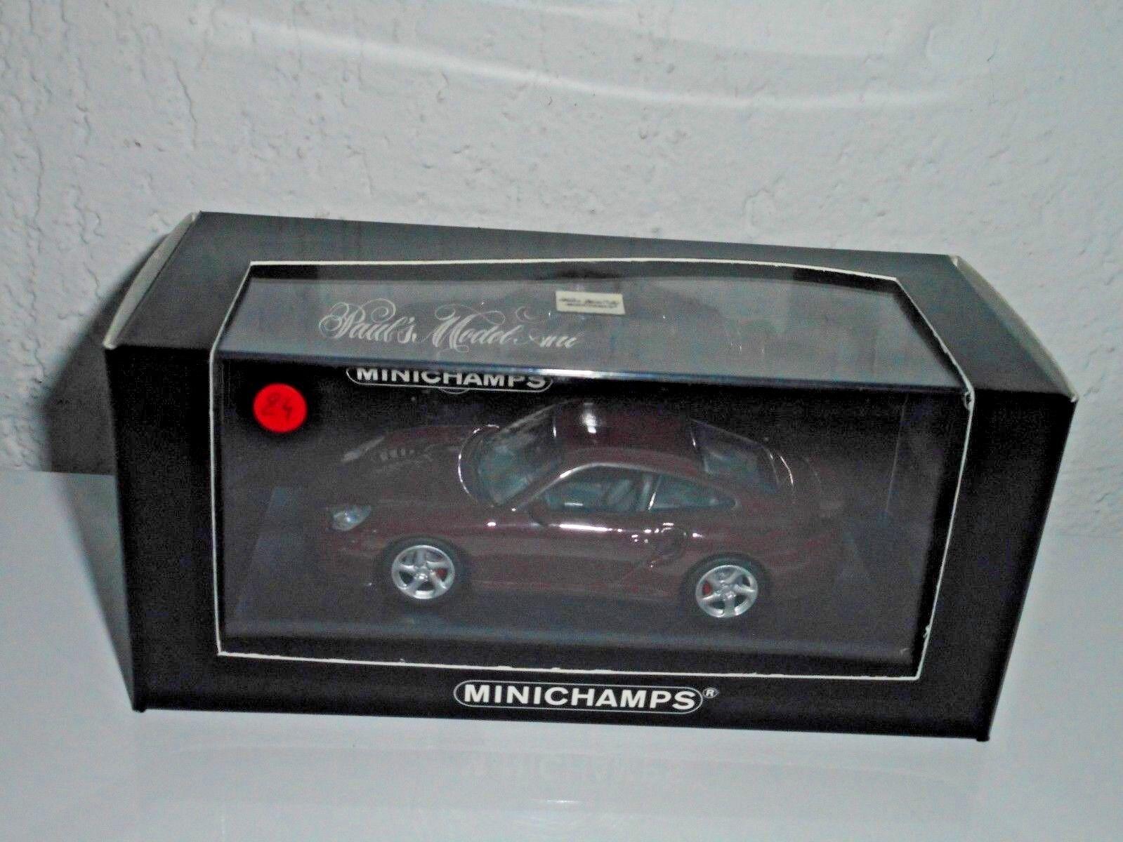 MINICHAMPS  1 43 vintage  N°24   de 100   PORCHE 911 turbo 1999