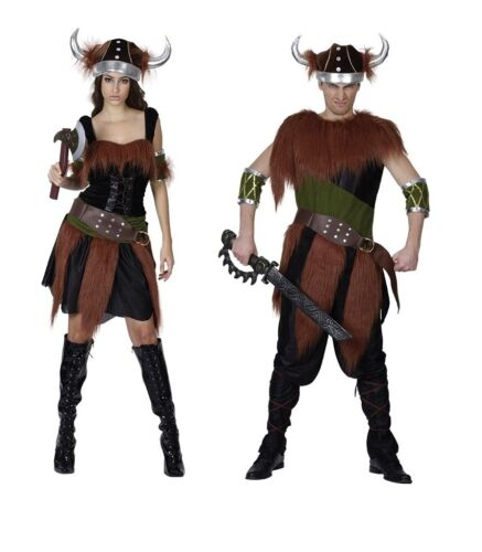 Viking Adulto Medievale /& Gotico Costume Halloween Uomo//Donna