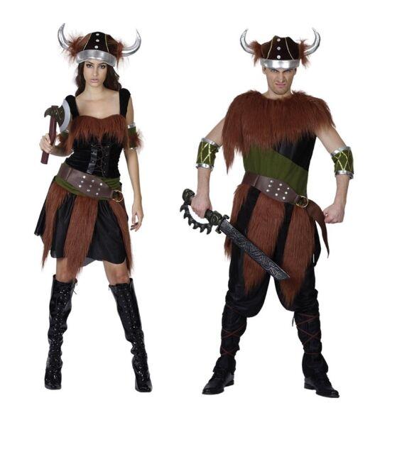 VIKING ADULT MEDIEVAL & GOTHIC FANCY DRESS COSTUME HALLOWEEN MEN/WOMEN