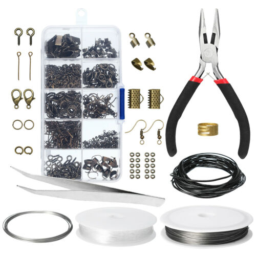 Wire Jewelry Making Starter Kit Sterling Repair Tools Craft Supplies Set 3 Color