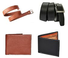 2Belts and 2Wallets Combo Belt Color Black and Tan Wallet Color Black and Brown