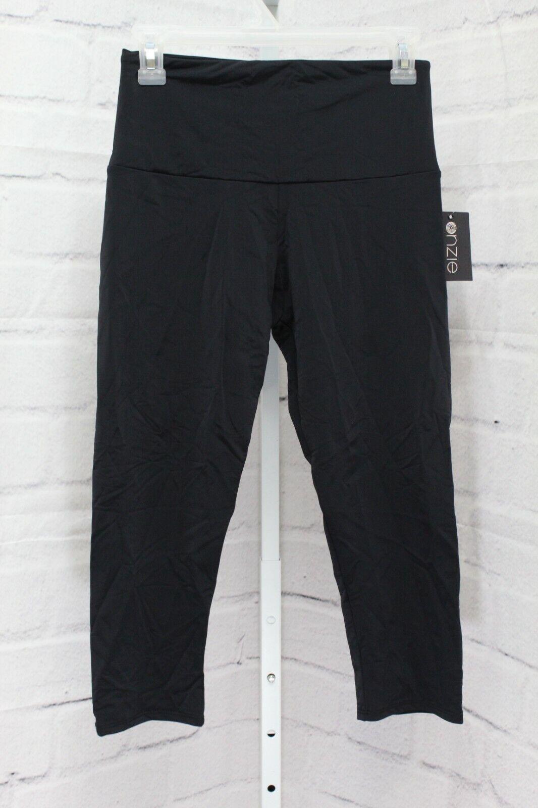 Onzie High Waisted Yoga Capri Pants, Women's Size M/L, Black NEW