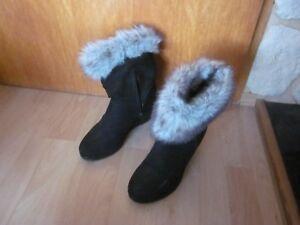Details zu Deichmann Damen Stiefel Keilabsatz Schuhe Gr.38 Zustand Note 2 3 wenig getragen
