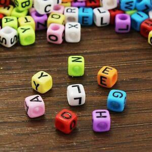 50 Letter Beads Alphabet Beads Acrylic Assorted Lot BULK Beads Wholesale