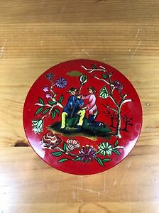 Vintage Baret Ware Miniature Container Tin Made In England Japanese Art Lorace