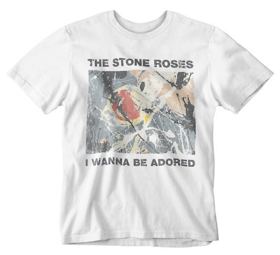 Mens Ian Brown Photo T-Shirt The Stone Roses Adored