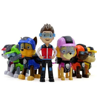 Set of 7 Paw Patrol Pup Deluxe Spiel Figuren Spielfiguren Spielzeug für Kind