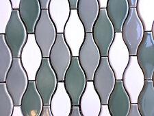 Moroccan Hourglass Green White Gray MixCeramic Multicolor