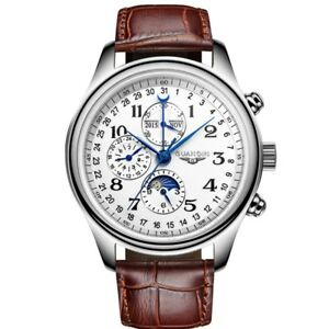 Automatic-Mechanical-Men-039-s-Watches-Luxury-Swiss-Date-Moon-Phase-Sapphire-Crystal
