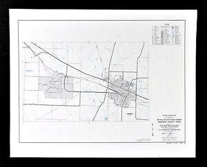 Texas Map - Childress County Town Plan - Scott Park Lake Burlington on