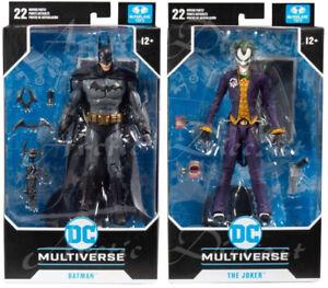 McFarlane-Toys-DC-Multiversum-Arkham-Asylum-7-034-Batman-amp-Joker-Action-Figur-Lot