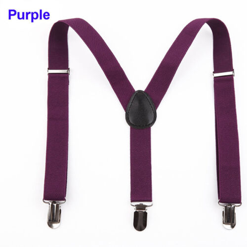 Neu Frauen Männer elastische Hosenträger verstellbare Hosenträger Y Clip-on.