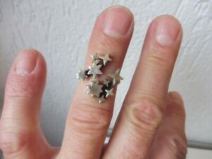 Schoner-alter-Ring-925-Silber-Sterne